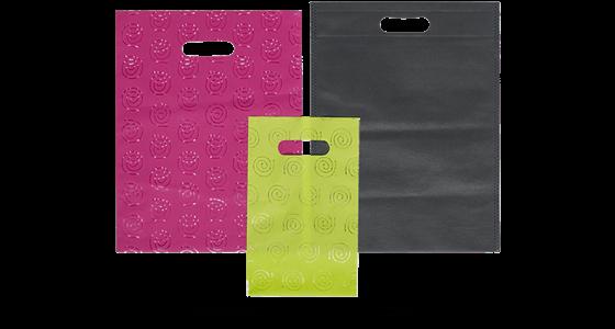 bolsas de papel con asas troqueladas