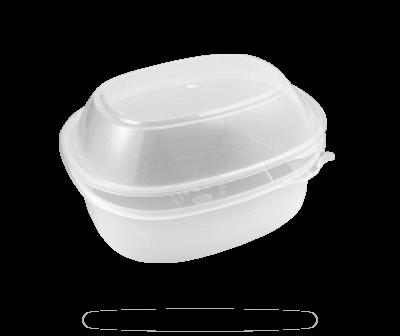 Envases para microondas con tapa alta